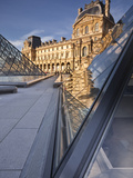 The Pyramid at the Louvre Museum, Paris, France, Europe Photographic Print by Julian Elliott