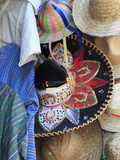 Hats, Souvenirs, Puebla, Historic Center, Puebla State, Mexico, North America Photographic Print by Wendy Connett