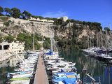 Port De Fontvieille, Fontvieille Harbor, the Rock, Grimaldi Palace, Royal Palace, Monaco, Cote D'Az Photographic Print by Wendy Connett