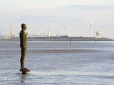 Antony Gormley Sculpture, Another Place, Crosby Beach, Merseyside, England, United Kingdom, Europe Photographic Print by Chris Hepburn