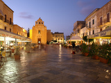 Piazza Matrice at Dusk, Trapani, Favignana Island, Sicily, Italy, Europe Photographic Print by Vincenzo Lombardo
