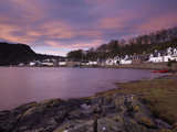 A Stunning Sky at Dawn over the Pictyresque Village of Plockton, Ross-Shire, Scotland, United Kingd Photographic Print by Jon Gibbs