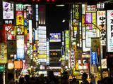 Neon Signs, Kabukicho, Shinjuku, Tokyo, Japan, Asia Papier Photo par Ben Pipe