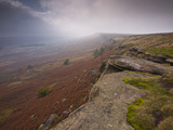Stanage Edge, Peak District National Park, Derbyshire, England, United Kingdom, Europe Photographic Print by Julian Elliott