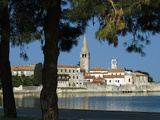 View over Old Town and Basilica of Euphrasius, UNESCO World Heritage Site, Porec, Istria, Croatia,  Photographic Print by Stuart Black