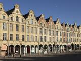 Flemish Baroque Facades at the Cobbled Petite Place (Place Des Heros), Arras, Nord-Pas De Calais, F Photographic Print by Stuart Forster