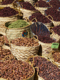 Spices and Dates for Sale in the Market or Souk of Aswan, Egypt, North Africa, Africa Photographic Print by  Tuul
