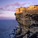 Haute Ville on Cliff Edge at Dawn, Bonifacio, South Corsica, Corsica, France, Mediterranean, Europe Photographic Print by Stuart Black