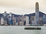 Star Ferry Crossing Victoria Harbour Towards Hong Kong Island, Two International Finance Centre Tow Photographic Print by Amanda Hall