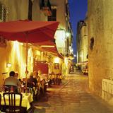 Evening Restaurant Scene in Haute Ville, Bonifacio, South Corsica, Corsica, France, Europe Reproduction photographique par Stuart Black