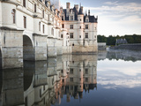 The Chateau of Chenonceau Reflecting in the Waters of the River Cher, UNESCO World Heritage Site, I Photographic Print by Julian Elliott