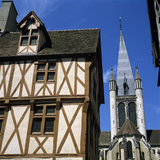 Timber Framed House in the Old District, Dijon, Burgundy, France, Europe Photographic Print by Stuart Black