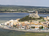 View of the Watchtower at Gruissan in Languedoc-Roussillon, France, Europe Photographic Print by David Clapp