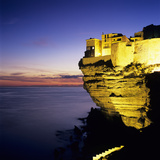 Haute Ville on Cliff Edge at Dusk, Bonifacio, South Corsica, Corsica, France, Mediterranean, Europe Photographic Print by Stuart Black