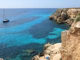 Cliff, Favignana, Sicily, Italy, Mediterranean, Europe Fotografisk tryk af Vincenzo Lombardo