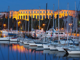 Dusk over Marina and the Roman Amphitheatre, Pula, Istria, Croatia, Adriatic, Europe Photographic Print by Stuart Black
