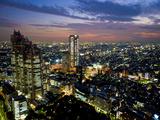 View from Tokyo Metropolitan Building, Shinjuku, Tokyo, Japan, Asia Fotografisk tryk af Ben Pipe