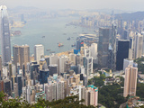 High View of the Hong Kong Island Skyline and Victoria Harbour from Victoria Peak, Hong Kong, China Photographic Print by Amanda Hall