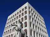 Palazzo Della Civilta Italiana, Eur, Rome, Lazio, Italy, Europe Photographic Print by Vincenzo Lombardo