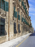Auberge De Castille One of Valletta's Most Magnificent Buildings, Valletta, Malta, Mediterranean, E Photographic Print by Simon Montgomery