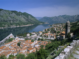 View over Old Town and Bay from Fortress of St. Ivan, Kotor, UNESCO World Heritage Site, the Boka K Photographic Print by Stuart Black