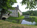 Watercastle, Hemsendorf, Saxony, Germany, Europe Photographic Print by Michael Runkel