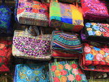 Handmade Bags, Handicraft Market, Oaxaca City, Oaxaca, Mexico, North America Photographic Print by Wendy Connett