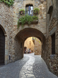 Street Scene in Old Town, Pals, Costa Brava, Catalonia, Spain, Europe Photographic Print by Stuart Black