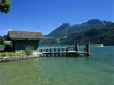 Pier on Lake, Duingt, Lake Annecy, Rhone Alpes, France, Europe Photographic Print by Stuart Black