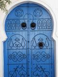 Door in Sidi Bou Said, Tunisia, North Africa, Africa Fotodruck von  Godong