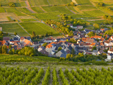 Looking Down onto a Village Near to Sancerre, Cher, Loire Valley, Centre, France, Europe Photographic Print by Julian Elliott
