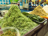 Kelp and Other Sea Products in a Local Grocery Store, Beijing, China, Asia Lmina fotogrfica por Kimberly Walker