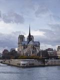 Notre Dame Cathedral on the Ile De La Cite, Paris, France, Europe Photographic Print by Julian Elliott