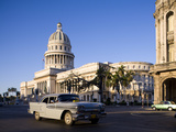 Capitolio, Central Havana, Cuba, West Indies, Central America Fotografisk tryk af Ben Pipe