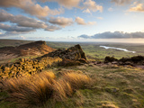 Sunset at the Roaches Including Tittesworth Reservoir, Staffordshire Moorlands, Peak District Natio Photographic Print by Chris Hepburn