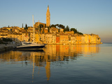 Old Town and St. Euphemia's Church at Sunrise, Rovinj, Istria, Croatia, Adriatic, Europe Photographic Print by Stuart Black