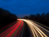 M6 Motorway at Dusk Near Juntion13, Staffordshire, England, United Kingdom, Europe Photographic Print by Chris Hepburn