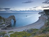 Durdle Door and Bat's Head, Dorset, Jurassic Coast, UNESCO World Heritage Site, England, United Kin Photographic Print by Julian Elliott