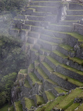 Agricultural Terraces in the Inca City, Machu Picchu, UNESCO World Heritage Site, Peru, South Ameri Photographic Print by Simon Montgomery