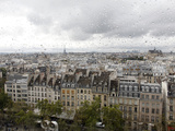 View from the Pompidou Centre on a Rainy Day, Paris, France, Europe Photographic Print by  Godong