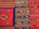 Traditional Hand Woven Rugs, Oaxaca City, Oaxaca, Mexico, North America Photographic Print by Wendy Connett