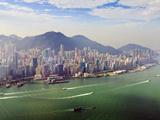 Cityscape of Hong Kong Island and Victoria Harbour, Hong Kong, China, Asia Photographic Print by Amanda Hall