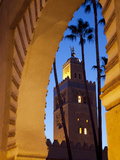 Minaret of the Koutoubia Mosque at Dusk, Marrakesh, Morocco, North Africa, Africa Photographic Print by Frank Fell