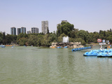 Lake, Chapultepec Park (Bosque De Chapultepec), Chapultepec, Mexico City, Mexico, North America Photographic Print by Wendy Connett