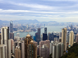 Hong Kong Cityscape Viewed from Victoria Peak, Hong Kong, China, Asia Photographic Print by Amanda Hall