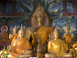 Buddha Statues, Wat Aham, Luang Prabang, Laos, Indochina, Southeast Asia, Asia Photographic Print by Richard Maschmeyer