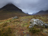 Low Cloud Hangs over Glencoe, Argyll, Scotland, United Kingdom, Europe Photographic Print by Jon Gibbs