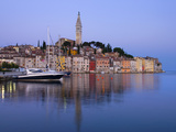 Old Town and St. Euphemia's Church at Dawn, Rovinj, Istria, Croatia, Adriatic, Europe Photographic Print by Stuart Black