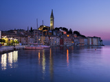 Old Town and St. Euphemia's Church at Dusk, Rovinj, Istria, Croatia, Adriatic, Europe Photographic Print by Stuart Black