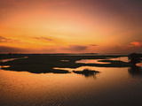 Arugam Lagoon at Sunset, a Good Wildlife Area, Pottuvil, Arugam Bay, Eastern Province, Sri Lanka, A Photographic Print by Robert Francis